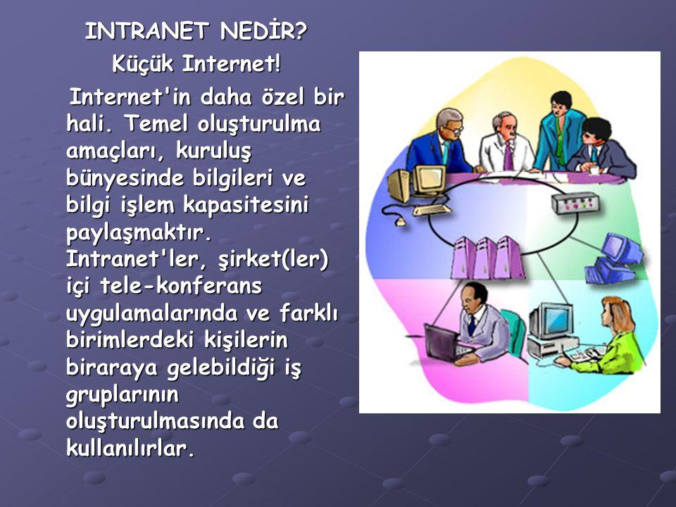 INTRANET NEDİR Küçük Internet!