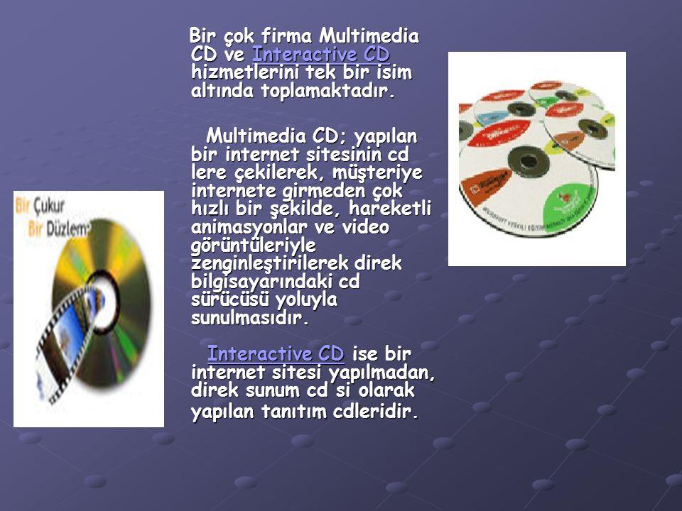 Bir çok firma Multimedia CD ve Interactive CD hizmetlerini tek bir isim altında toplamaktadır.