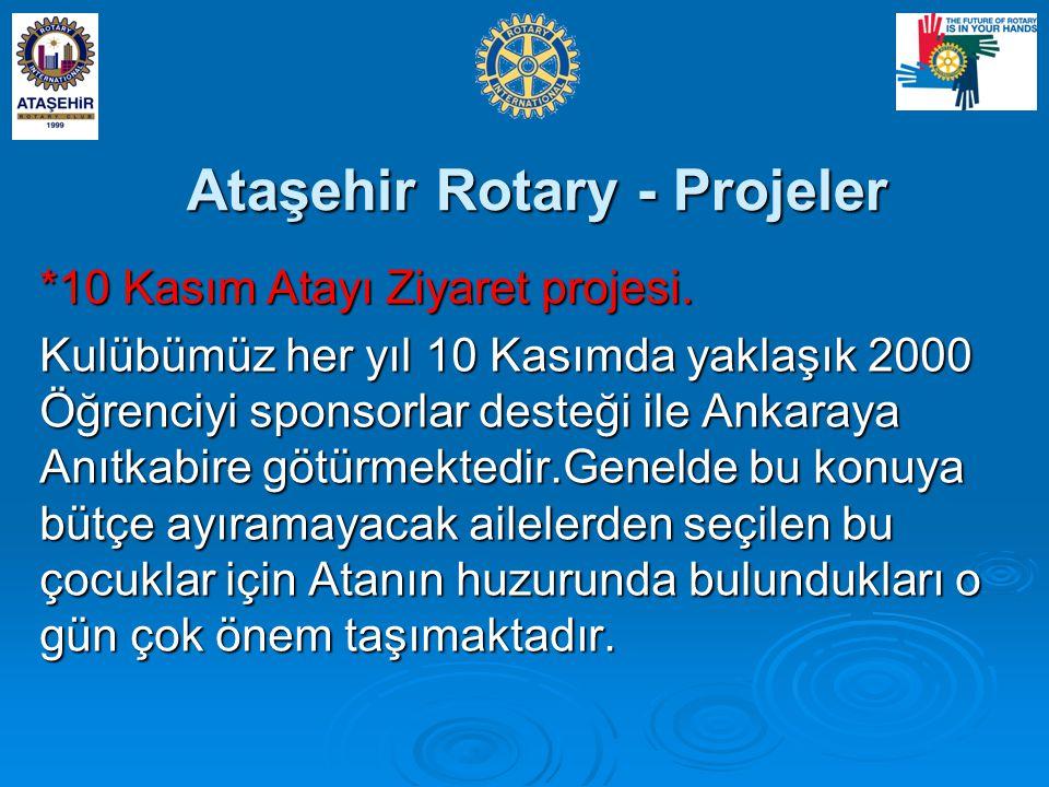 Ataşehir Rotary - Projeler