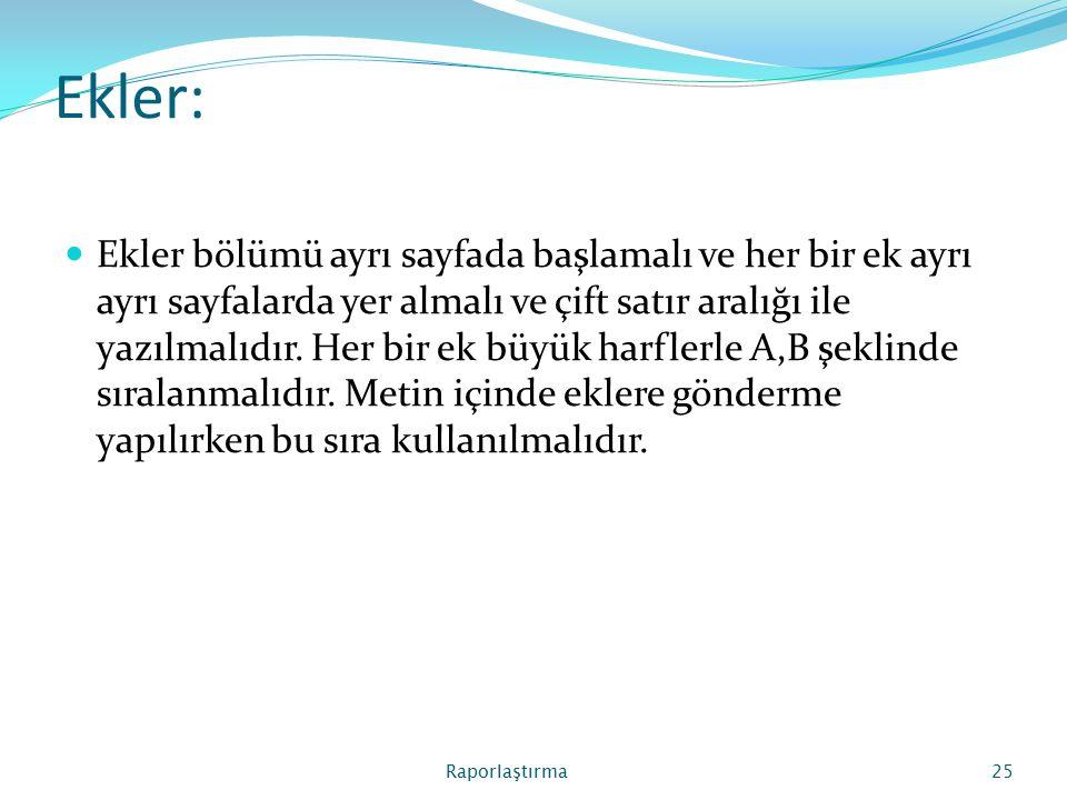 Ekler: