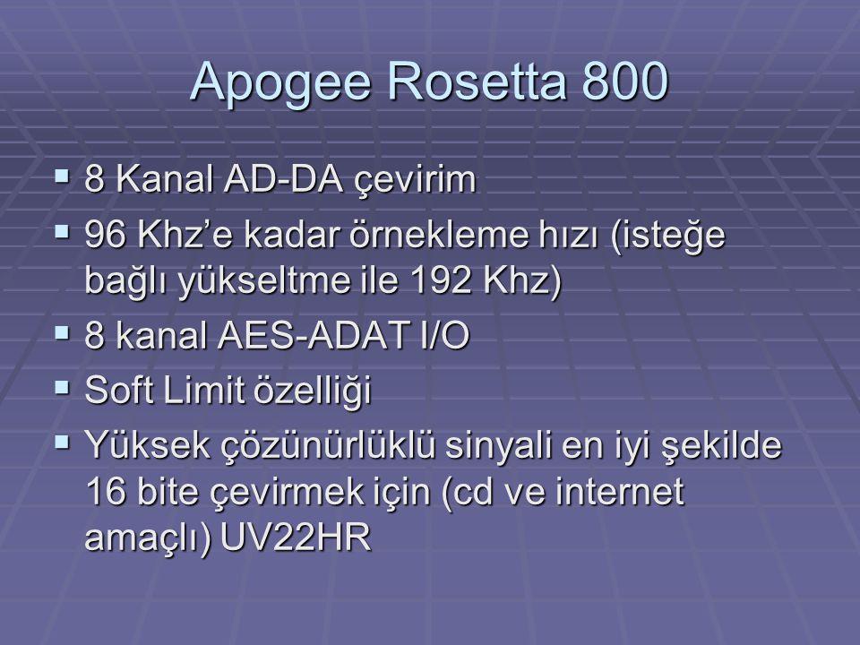 Apogee Rosetta 800 8 Kanal AD-DA çevirim