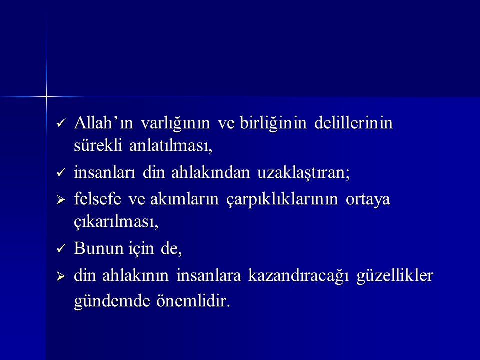 Allah'ın varlığının ve birliğinin delillerinin sürekli anlatılması,