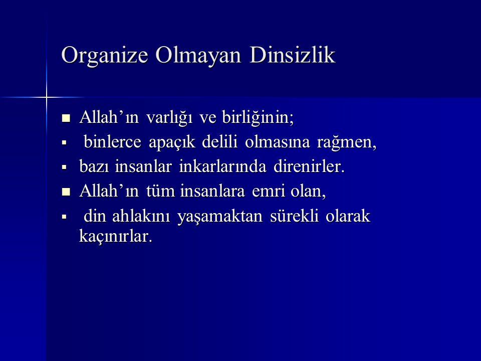 Organize Olmayan Dinsizlik
