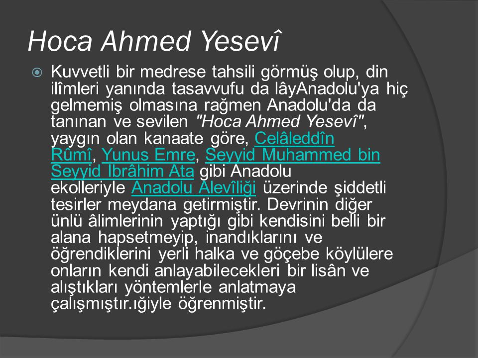 Hoca Ahmed Yesevî