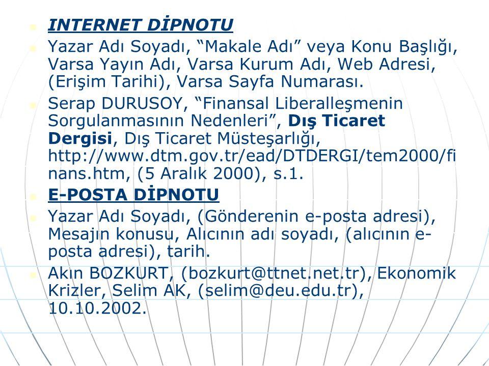 INTERNET DİPNOTU