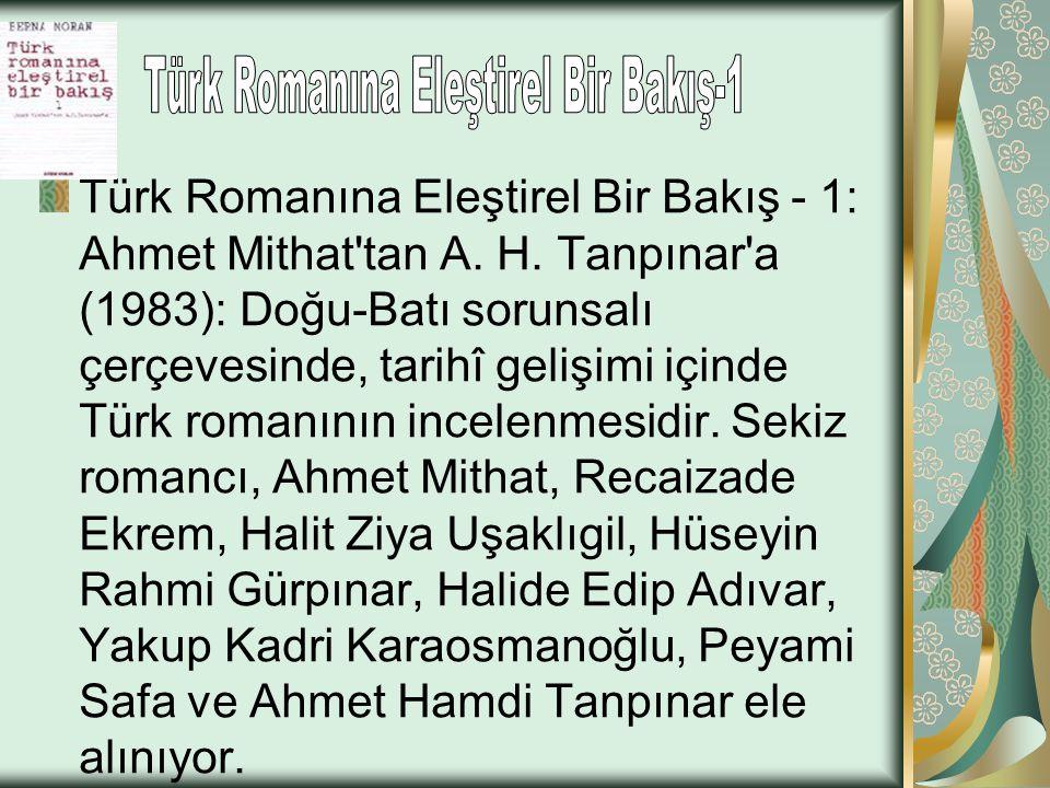 Türk Romanına Eleştirel Bir Bakış-1