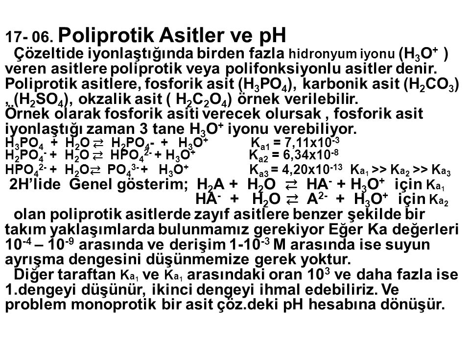 17- 06. Poliprotik Asitler ve pH