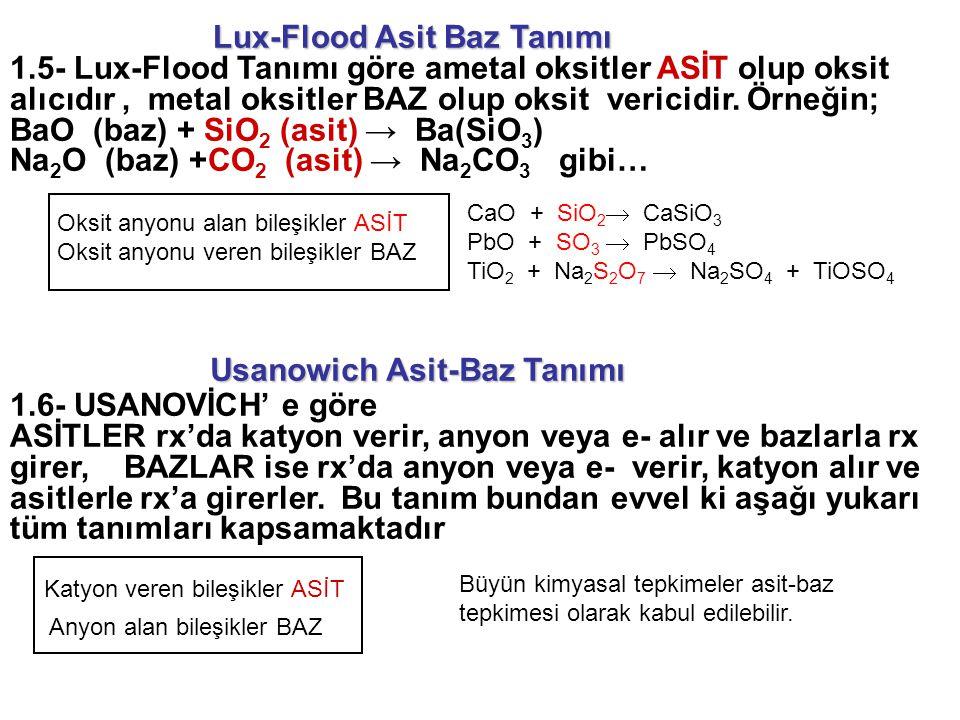 Lux-Flood Asit Baz Tanımı