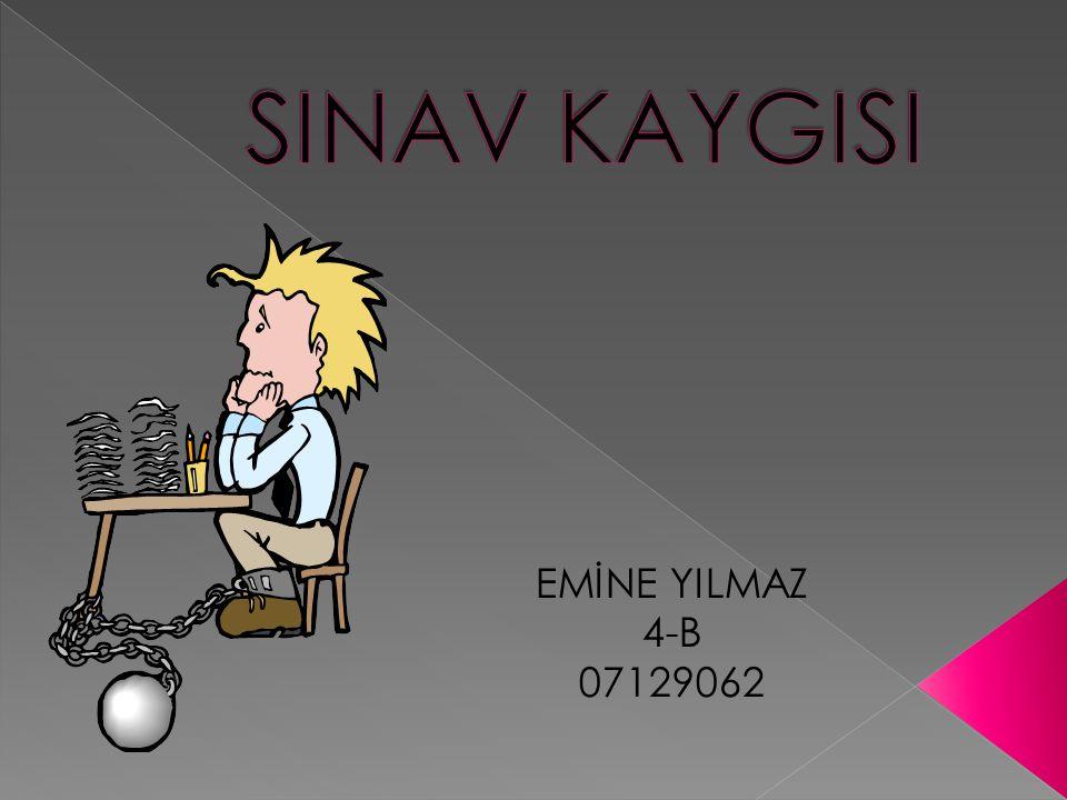 SINAV KAYGISI EMİNE YILMAZ 4-B 07129062