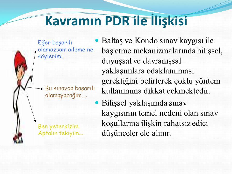 Kavramın PDR ile İlişkisi