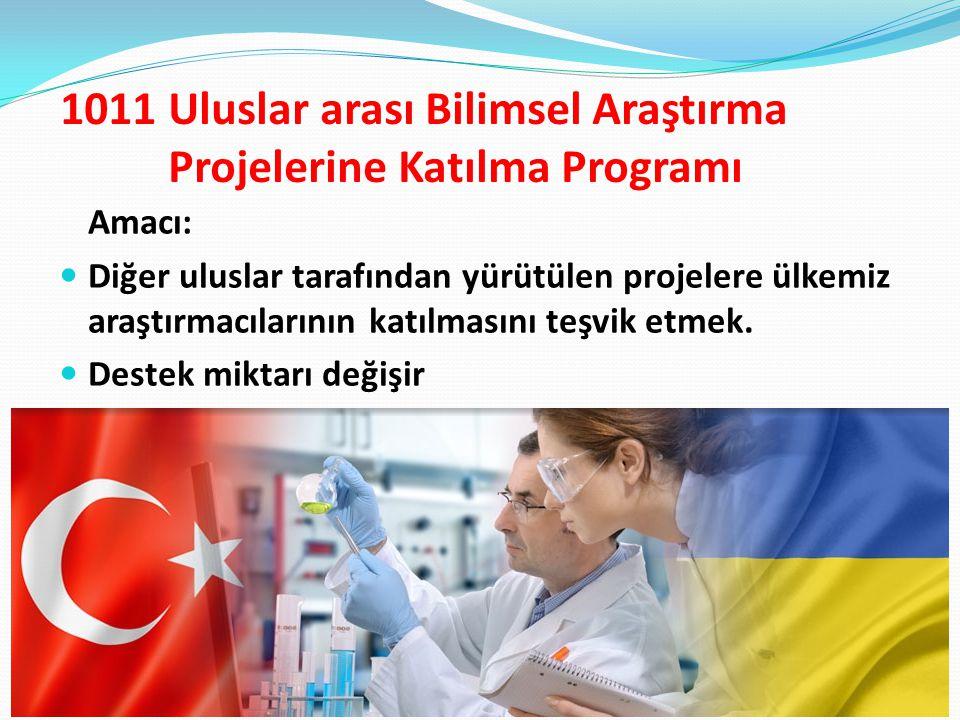 1011 Uluslar arası Bilimsel Araştırma Projelerine Katılma Programı