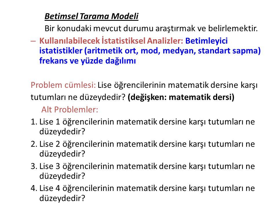 Betimsel Tarama Modeli