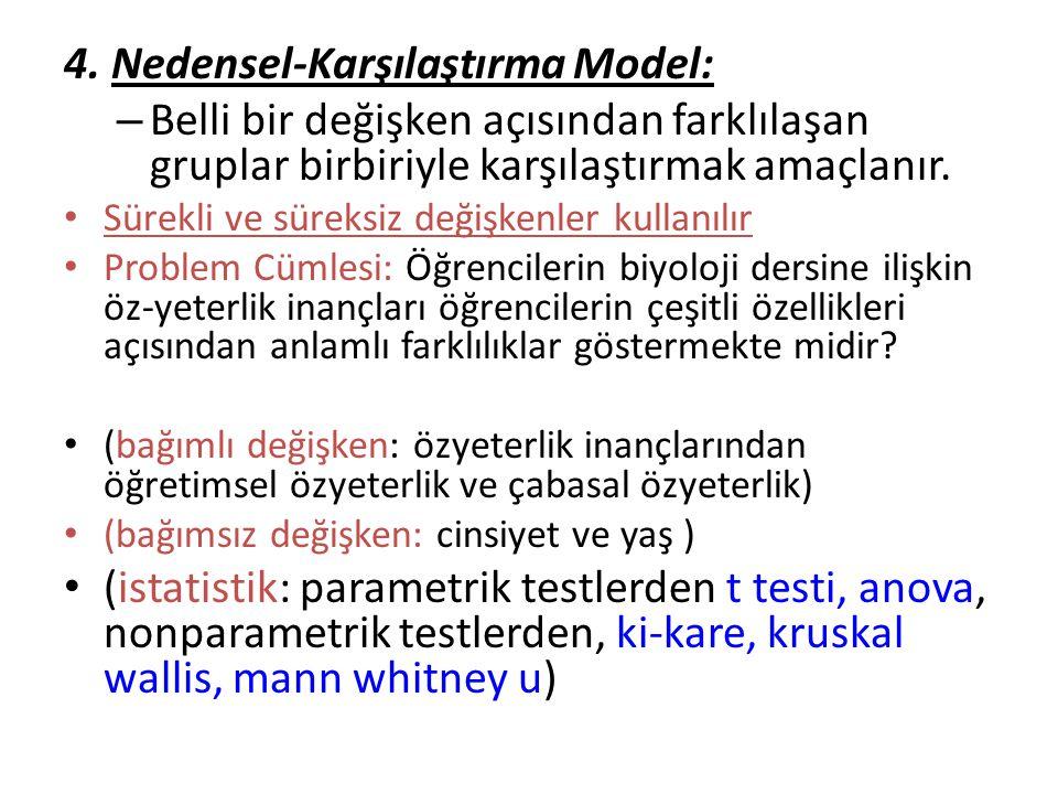 4. Nedensel-Karşılaştırma Model: