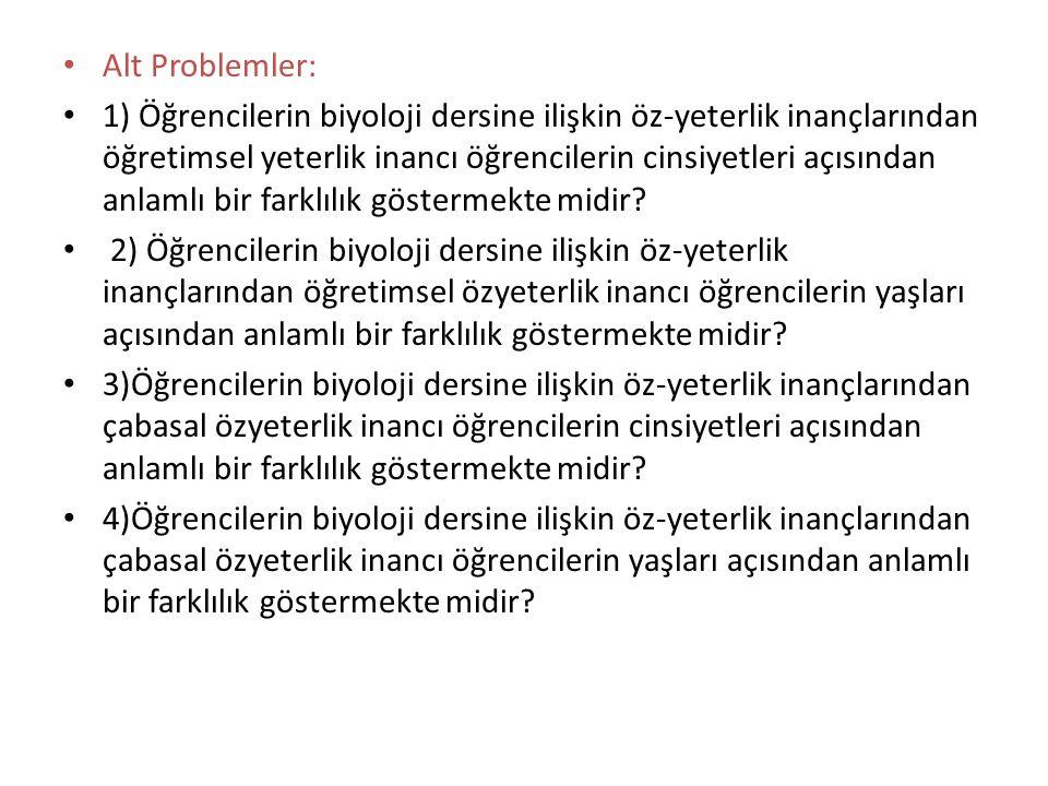Alt Problemler:
