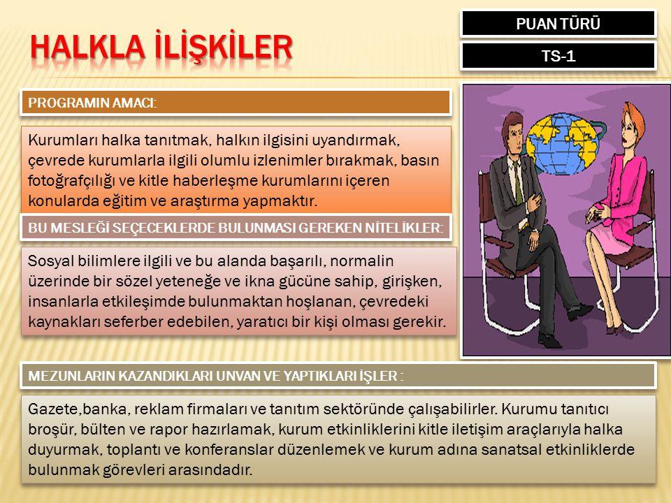 HALKLA İLİŞKİLER PUAN TÜRÜ TS-1