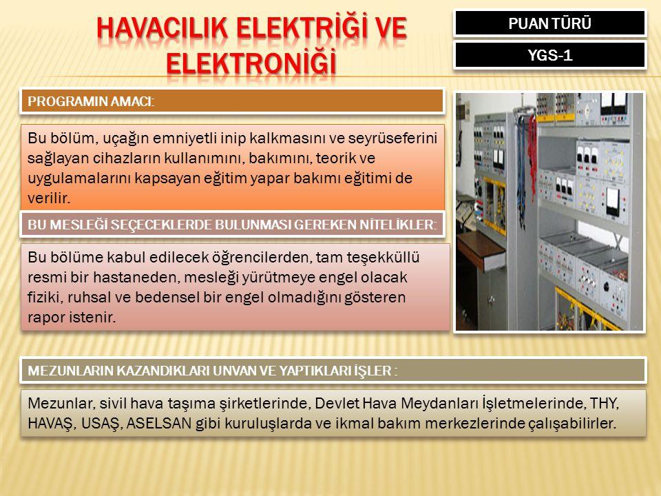 HAVACILIK ELEKTRİĞİ ve ELEKTRONİĞİ