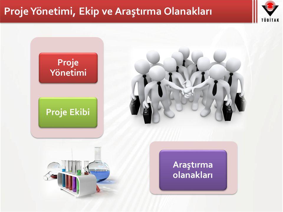 Proje Yönetimi, Ekip ve Araştırma Olanakları