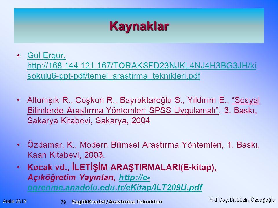 Kaynaklar Gül Ergür, http://168.144.121.167/TORAKSFD23NJKL4NJ4H3BG3JH/kisokulu6-ppt-pdf/temel_arastirma_teknikleri.pdf.