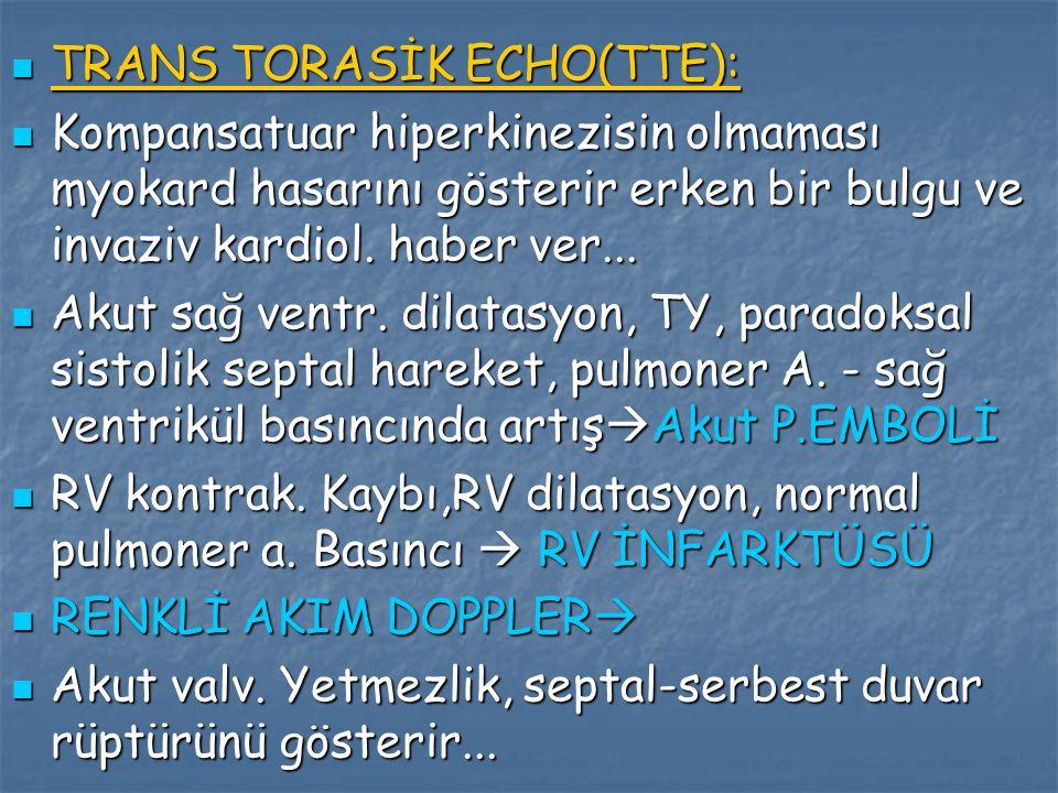 TRANS TORASİK ECHO(TTE):