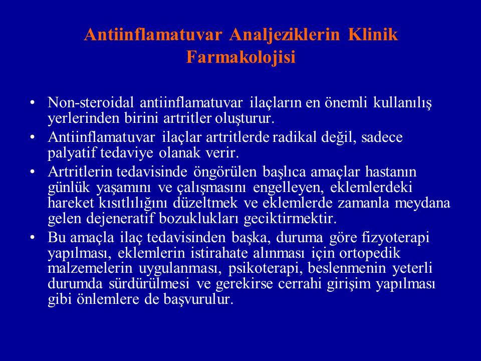 Antiinflamatuvar Analjeziklerin Klinik Farmakolojisi
