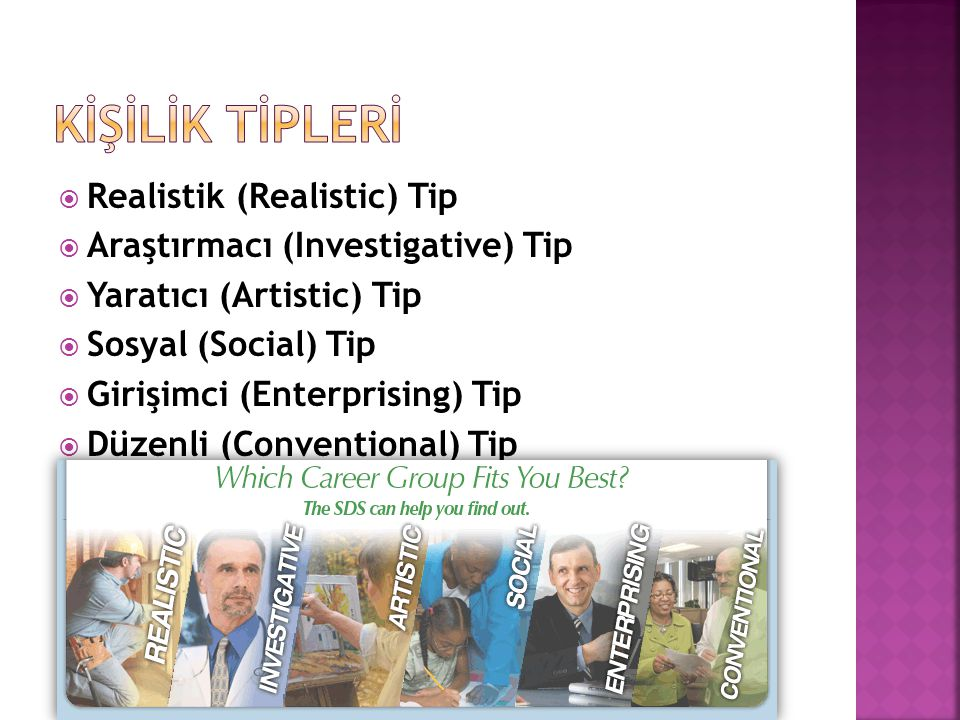 Kİşİlİk tİPLERİ Realistik (Realistic) Tip