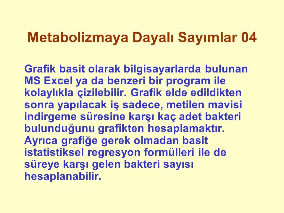 Metabolizmaya Dayalı Sayımlar 04