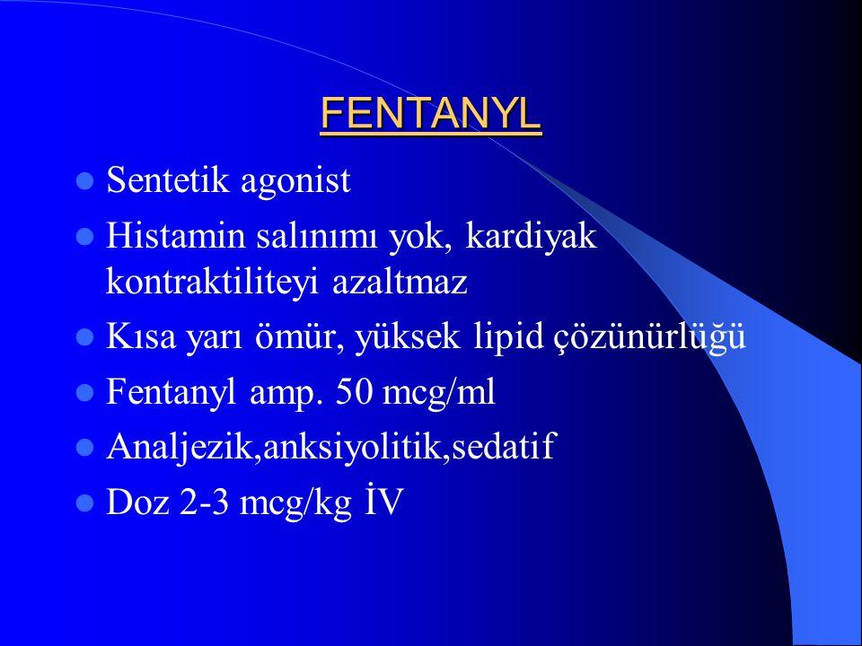 FENTANYL Sentetik agonist