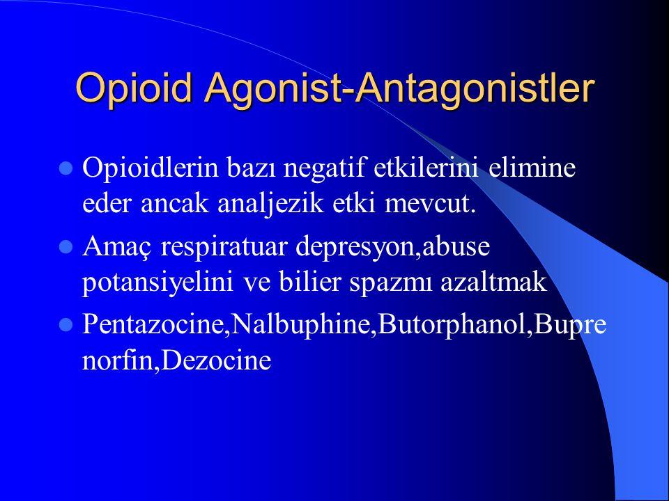 Opioid Agonist-Antagonistler