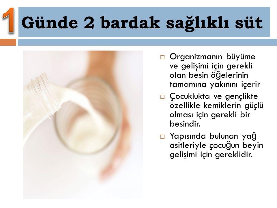 Günde 2 bardak sağlıklı süt