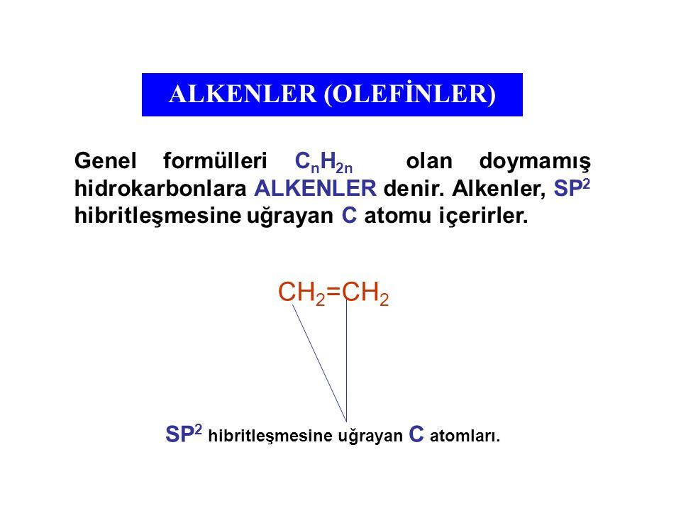 ALKENLER (OLEFİNLER) CH2=CH2