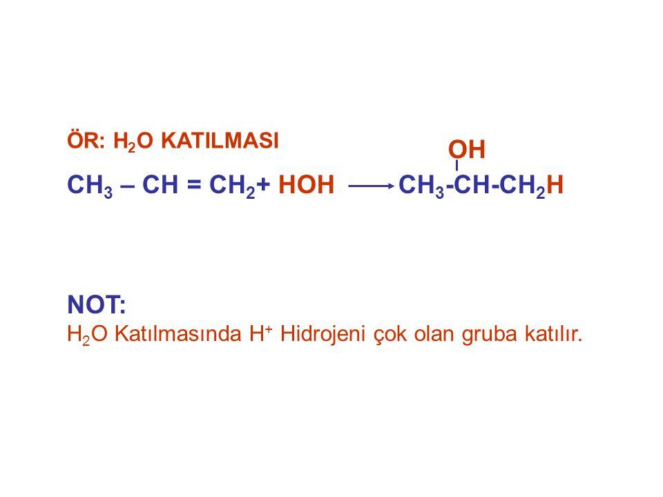 CH3 – CH = CH2+ HOH CH3-CH-CH2H OH