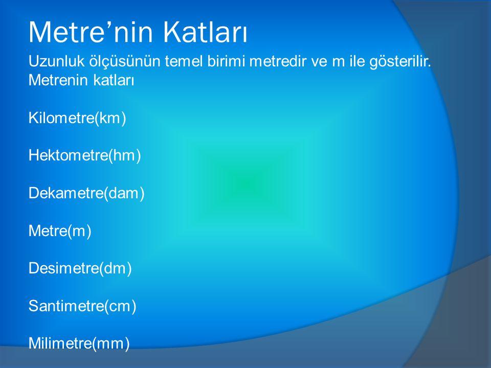 Metre'nin Katları