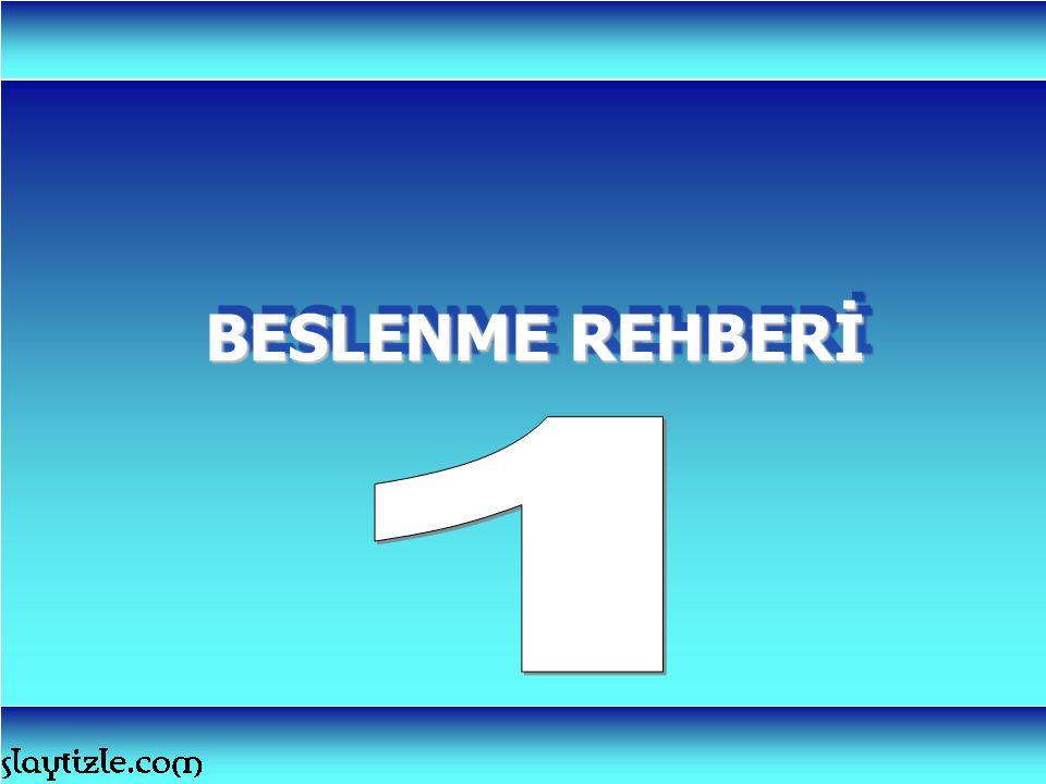 BESLENME REHBERİ 1