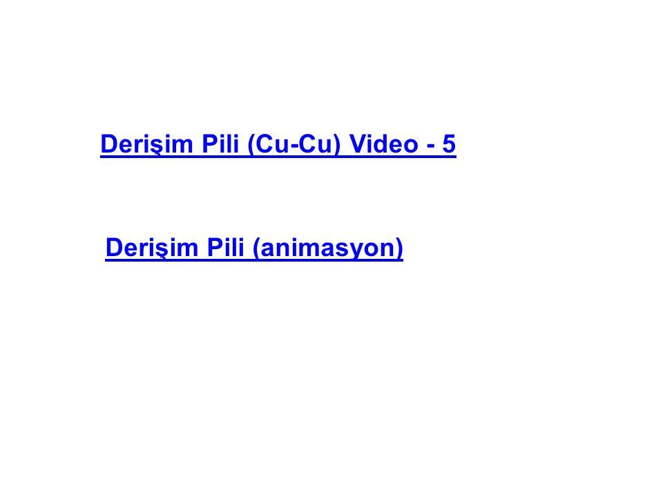 Derişim Pili (Cu-Cu) Video - 5