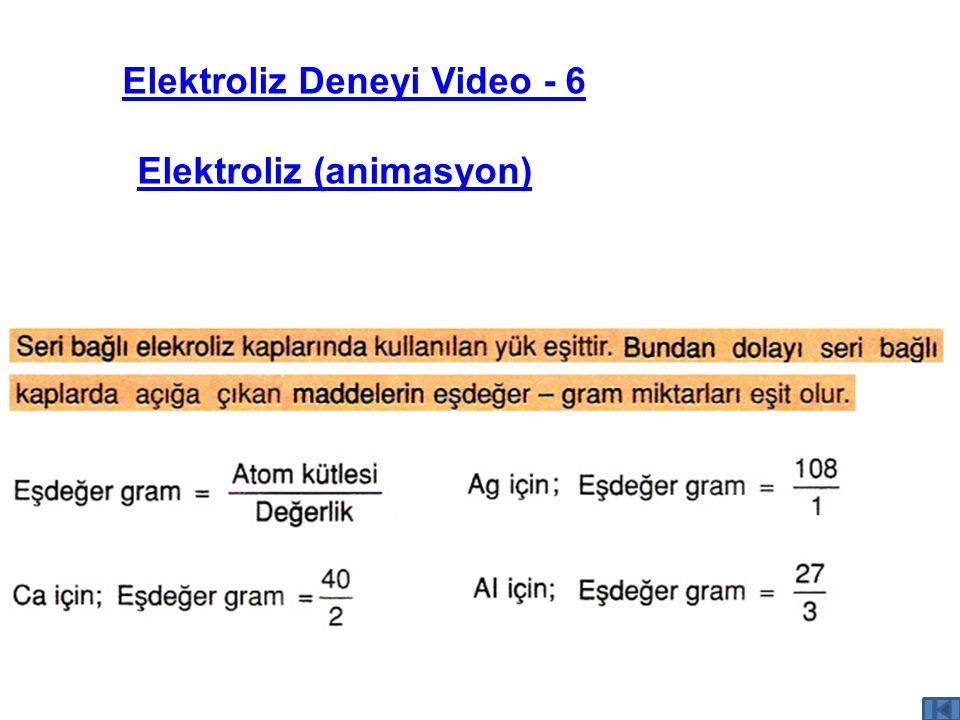 Elektroliz Deneyi Video - 6