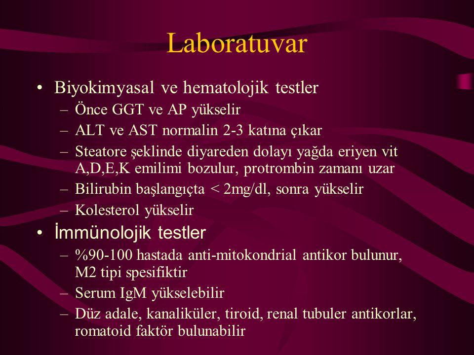 Laboratuvar Biyokimyasal ve hematolojik testler İmmünolojik testler