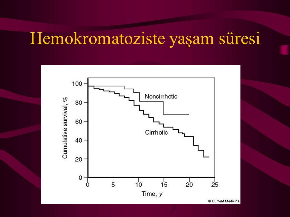 Hemokromatoziste yaşam süresi