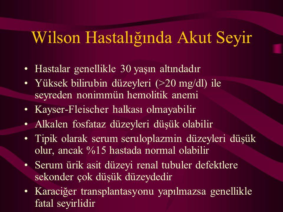 Wilson Hastalığında Akut Seyir