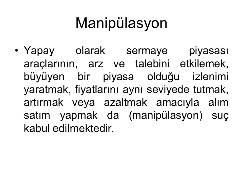 Manipülasyon