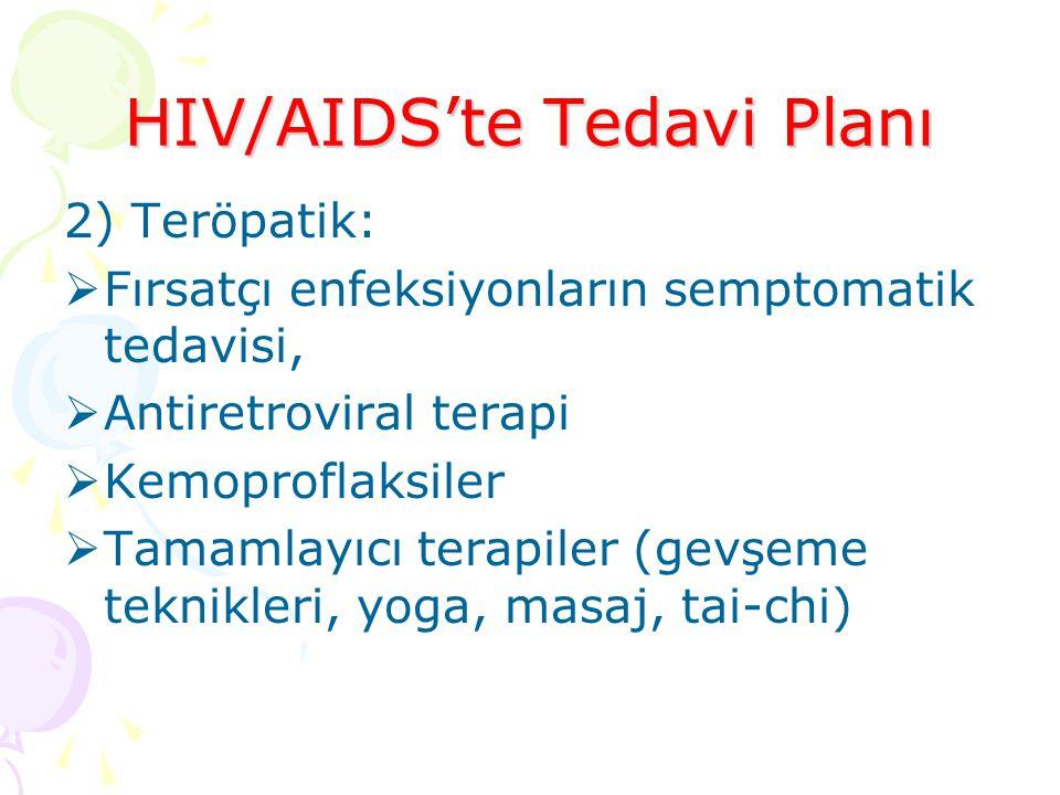 HIV/AIDS'te Tedavi Planı