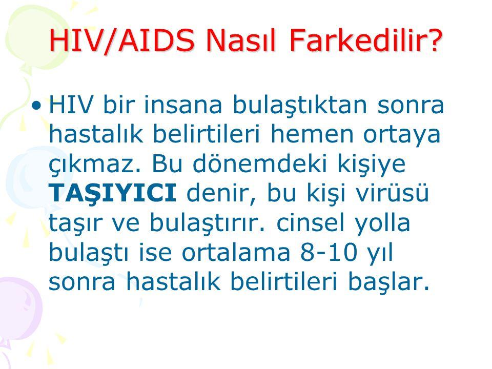 HIV/AIDS Nasıl Farkedilir