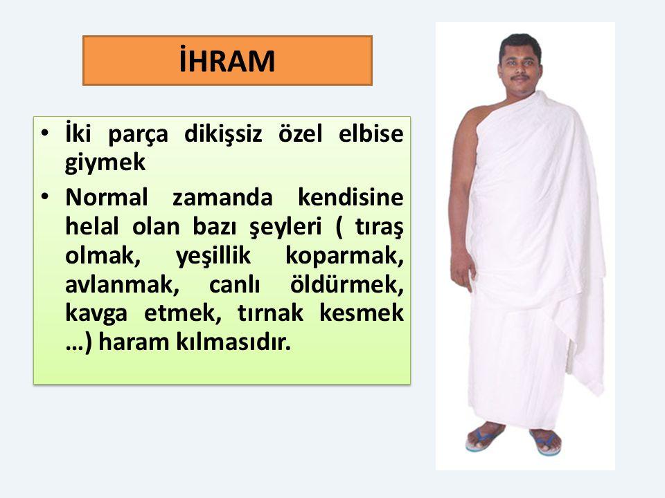 İHRAM İki parça dikişsiz özel elbise giymek