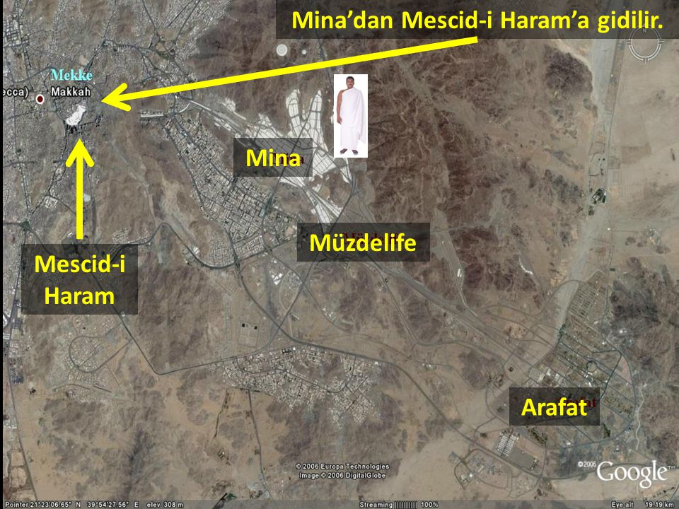 Mina'dan Mescid-i Haram'a gidilir.
