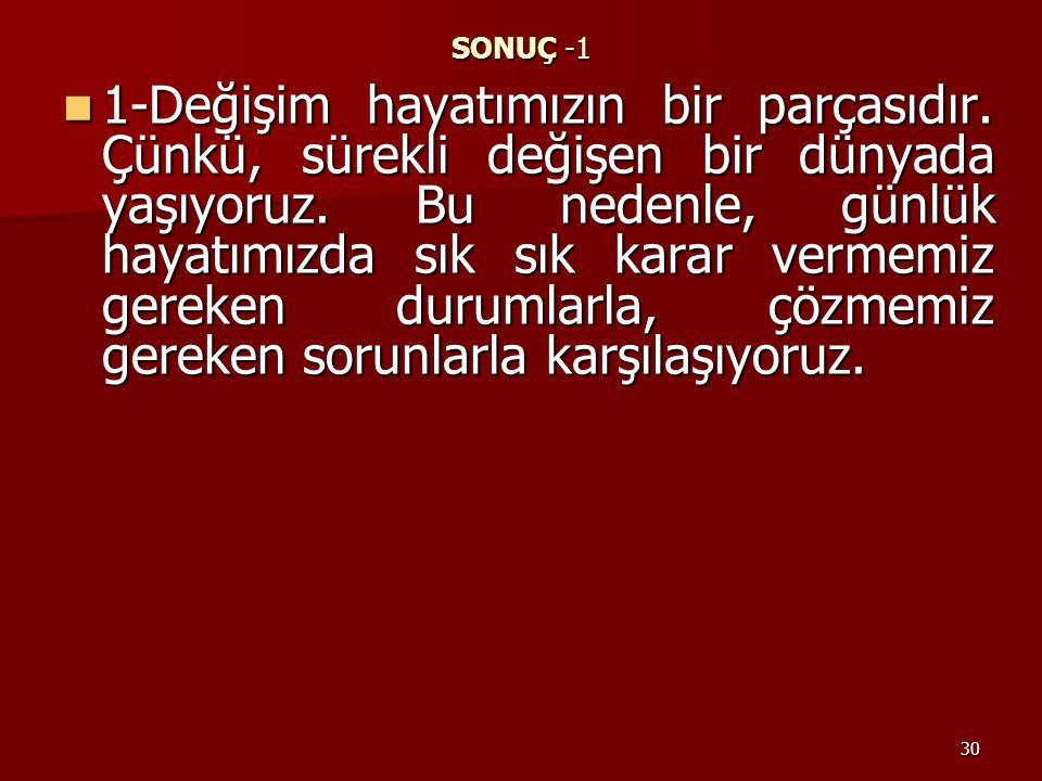SONUÇ -1