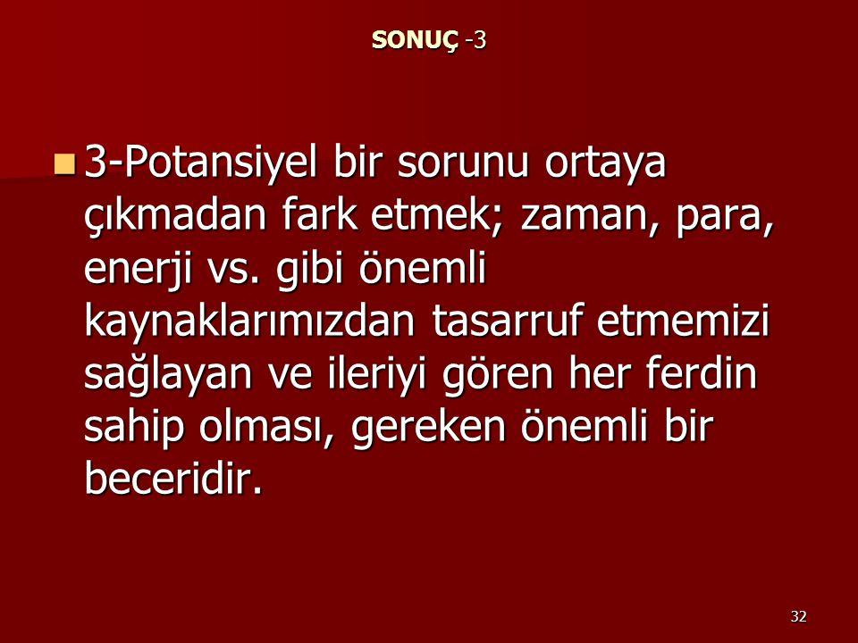 SONUÇ -3