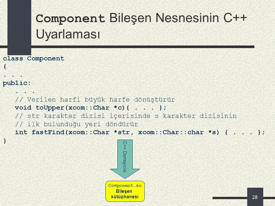 Component Bileşen Nesnesinin C++ Uyarlaması