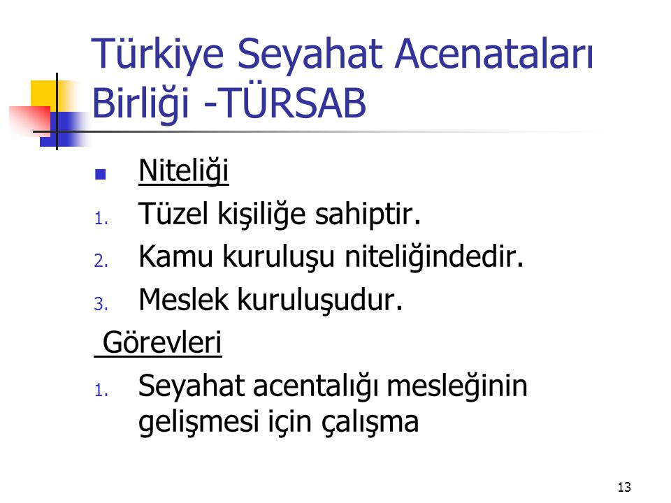 Türkiye Seyahat Acenataları Birliği -TÜRSAB