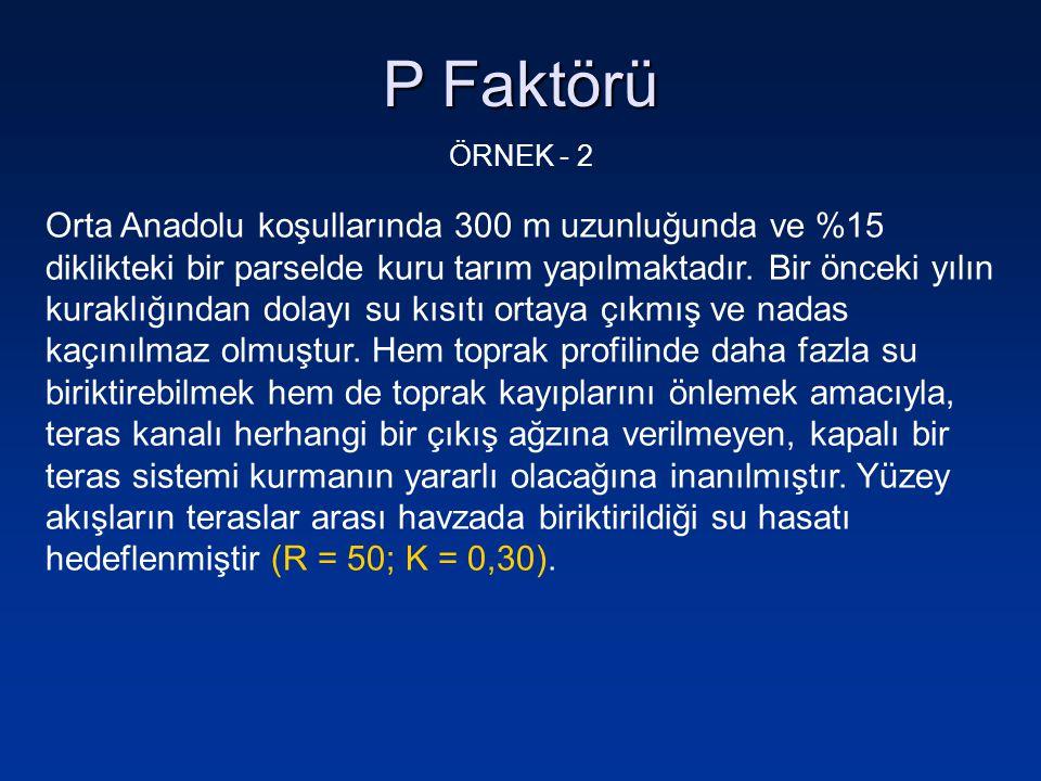 P Faktörü ÖRNEK - 2.