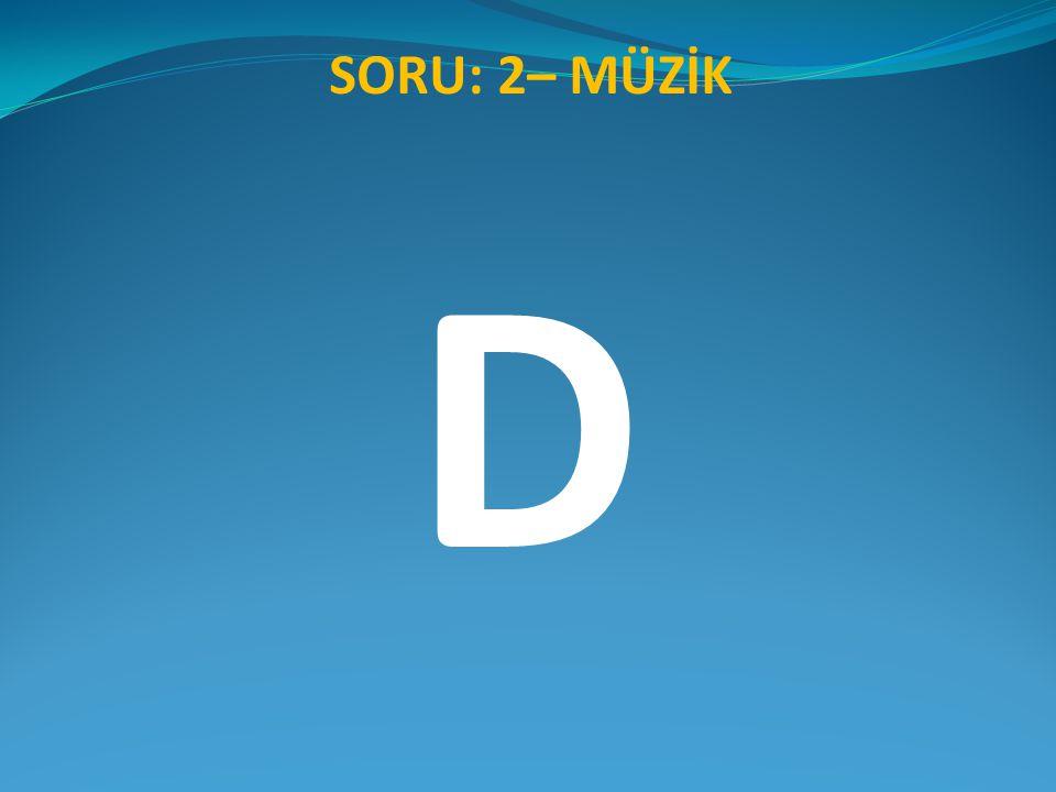 SORU: 2– MÜZİK D