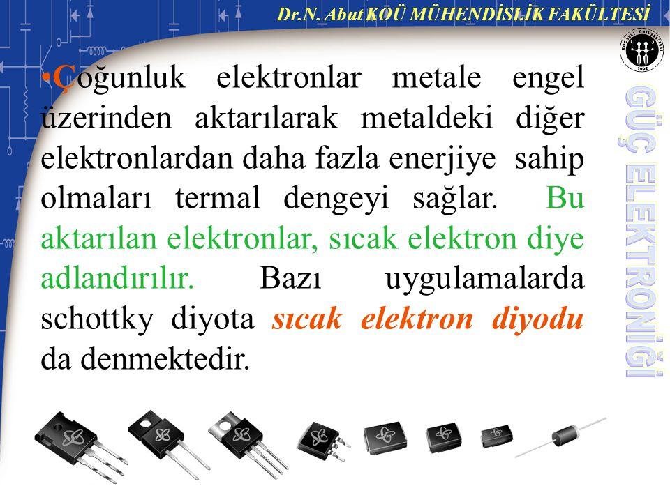 Çoğunluk elektronlar metale engel üzerinden aktarılarak metaldeki diğer elektronlardan daha fazla enerjiye sahip olmaları termal dengeyi sağlar.